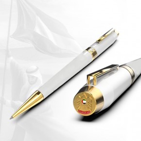 Metal Pen with Falcon